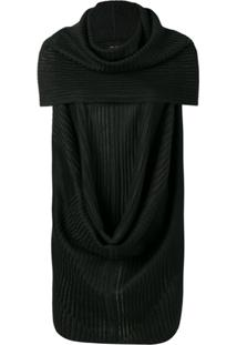 Rick Owens Ribbed Style Blouse - Preto