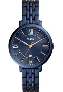 Relógio Fossil Feminino Jacqueline - Es4094/4An Es4094/4An - Feminino-Azul