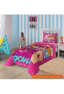 Jogo De Cama Infantil Com 3 Peças Patrulha Canina Algodão Pink