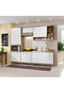 Cozinha Compacta 5 Peças 5808-S5 - Sicília - Multimóveis - Argila Acetinado / Branco Acetinado