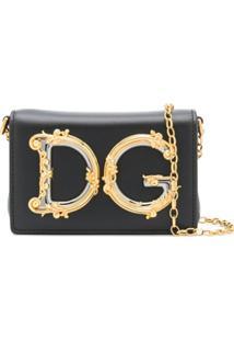 Dolce & Gabbana Pochete Com Logo Dg - Preto