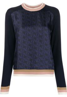 Bally Blusa Decote Careca Com Estampa - Azul