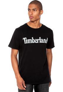 Camiseta Timberland Estampada Preta