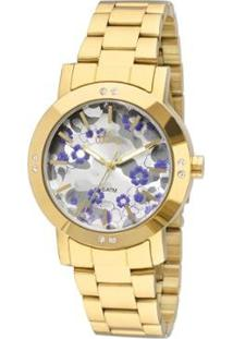 Relógio Allora Feminino Camoflower Al2036Ffq/4C - Al2036Ffq/4C - Feminino-Dourado