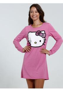 Camisola Feminina Manga Longa Hello Kitty