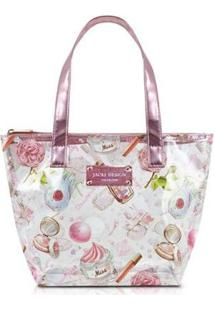 Bolsa Jack Design Feminina - Feminino-Rosa Claro