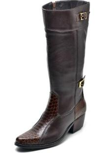 Bota Country Montaria Top Franca Shoes Feminina - Feminino-Cafe