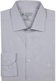 Camisa Dudalina Manga Longa Cetim Fio Tinto Maquinetado Listrado Masculina (Rosa Claro, 43)