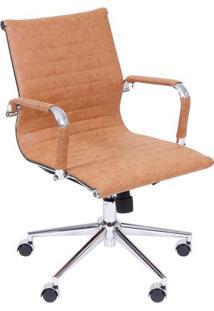 Cadeira Office Eames Retrã´ Esteirinha- Castanho & Prateaor Design