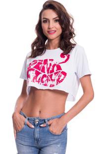 Camiseta Cropped Jazz Brasil Pink Floyd Branca