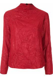 Uma | Raquel Davidowicz Blusa Caldas Gola Alta - Vermelho