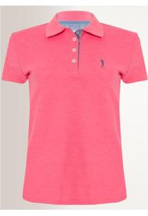 Camisa Polo Aleatory Feminina Piquet Lycra - Feminino-Rosa