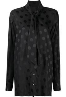 Dolce & Gabbana Blusa Com Estampa De Poás - Preto