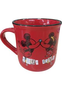Caneca Minas De Presentes Mickey & Minnie Vermelha