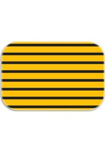 Tapete Decorativo Lar Doce Lar Abelhas 40Cm X 60Cm Amarelo