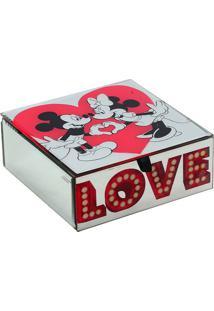 Porta Joias Love Disney®- Vermelho & Branco- 6,5X15Xmabruk