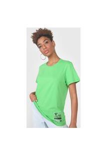 Camiseta Colcci Tag Verde