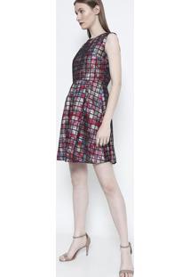 Vestido Com Pregas- Rosa Pretosusan Zheng
