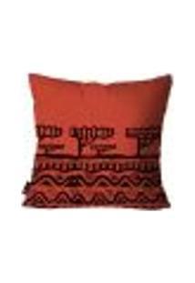 Capa Para Almofada Africana 45X45Cm Vermelho