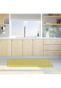 Tapete De Cozinha Mdecore Laranja Azul 40X120Cm