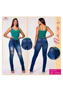 Calça Jeans Flare Feminina Destroyed Biotipo