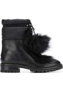 Jimmy Choo Ankle Boot De Couro 'Glacie' - Preto
