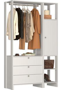 Guarda-Roupa Modulado Closet 102107 - Nova Mobile - Branco