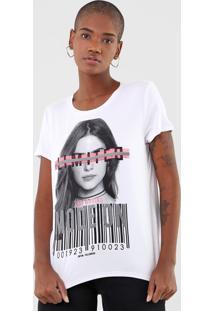 Camiseta Enfim Mode On Branca - Branco - Feminino - Viscose - Dafiti