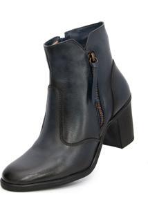 Bota Cano Curto Over Boots Jane Azul - Kanui