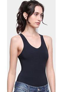 Body Calvin Klein Corte Laser Feminino - Feminino-Preto
