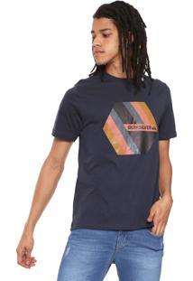 Camiseta Quiksilver Retro Right Azul-Marinho