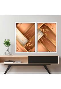Quadro Love Decor Com Moldura Chanfrada Wood Branco - Médio