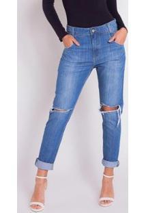 Calça Jeans Areazul Boyfriend Feminina - Feminino