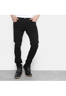Calça Sarja Skinny Colcci Bolso Ziper Masculina - Masculino-Preto