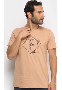 Camiseta Forum Be Part Of Masculina - Masculino-Bege