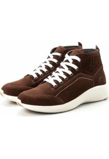 Coturno Tênis Casual Jhon Boots Clássico Marrom