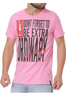 Camiseta Manga Curta Masculina Fido Dido Rosa