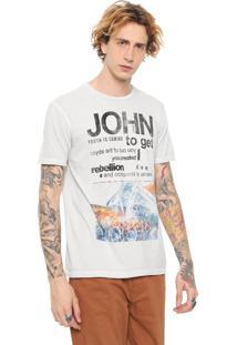 Camiseta John John Rebellion Key Cinza