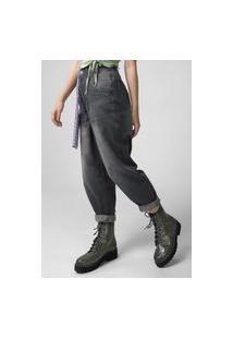 Calça Jeans Forever 21 Slouchy Estonada Cinza