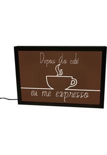 Luminária Prolab Gift Depois Do Café Eu Me Expresso Preta