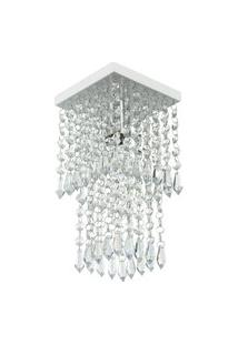 Lustre Plafon De Cristal Acrilico Spark Branco Maravilhoso