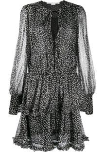 Stella Mccartney Vestido Com Estampa De Poás - Preto
