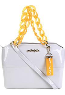 Bolsa Petite Jolie Tote Zip Bag Feminina - Feminino-Cinza