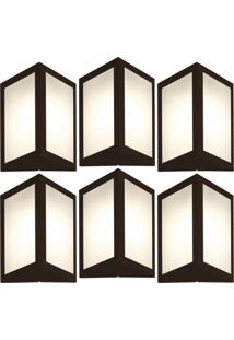 Arandela Triangular Marrom Kit Com 6 Casah