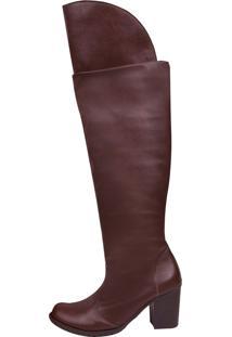Bota Chiquiteira Over Knee Marrom Dh