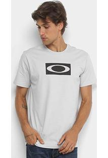 Camiseta Oakley Ellipse Mesh Masculina - Masculino-Cinza