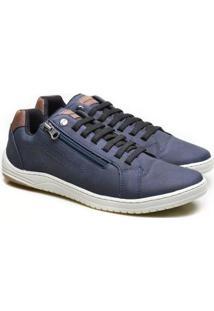Sapatênis Ped Shoes Elástico Palmilha Macia Maculino - Masculino-Azul Escuro