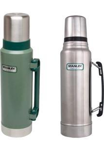 Garrafa Térmica 1L Aço Inox + Stanley 1,3L Hammertone Green