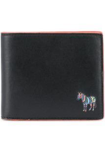 Ps Paul Smith Carteira Com Logo E Detalhe De Zebra - Preto