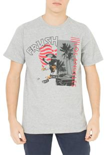 Camiseta Frush Eagle Flag Cinza